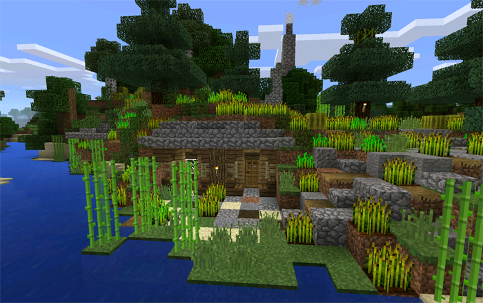 Hobbit house for Modern house minecraft pe 0 12 1